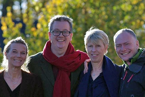 The NAFS Steering Comittee. From the left: Theresa Digerfeldt, Richard Tellström, Maria Frostling-Henningsson and Torbjörn Bildtgård.