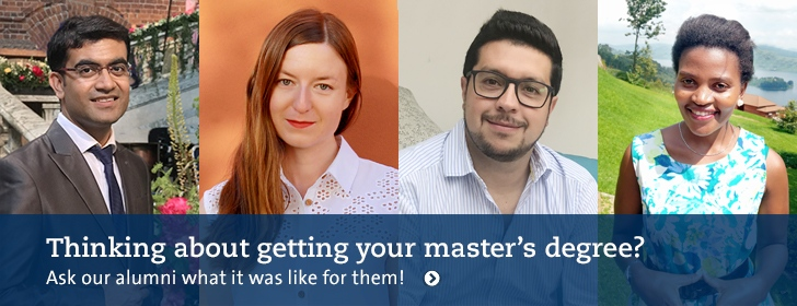 Thinking about a masters degree? Ask our alumni