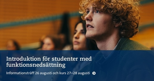 Introduktion för studenter med funktionsnedsättning