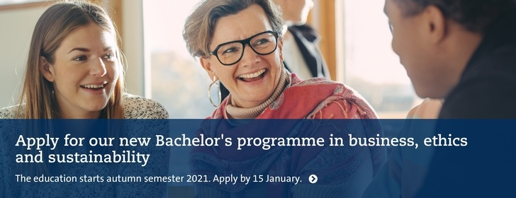 Bachelor's programme in business, ethics and sustainability